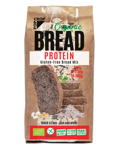ORGANIC, VEGAN, GLUTEN-FREE BREAD Mix, PROTEIN