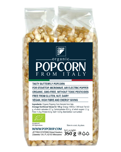 Organic Popcorn from Italy – popping corn kernels