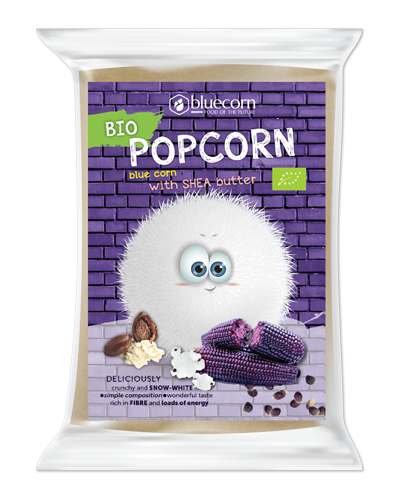 Organic Popcorn with Blue Corn and Shea Butter for microwave