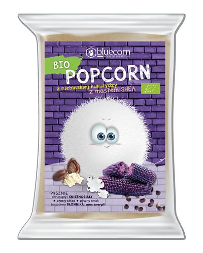 Bio Popcorn z niebieskiej kukurydzy z masłem Shea do mikrofalówki