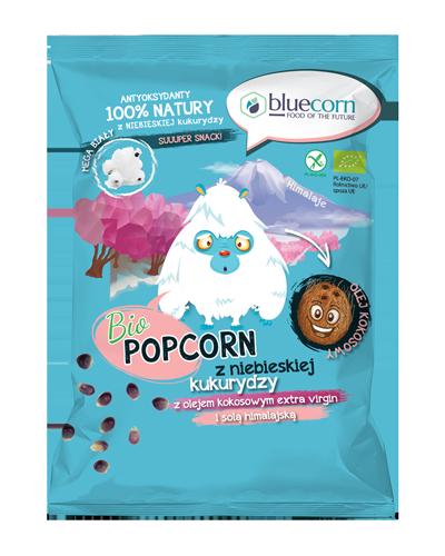 Bio Popcorn prażony na powietrzu z niebieskiej kukurydzy z olejem kokosowym